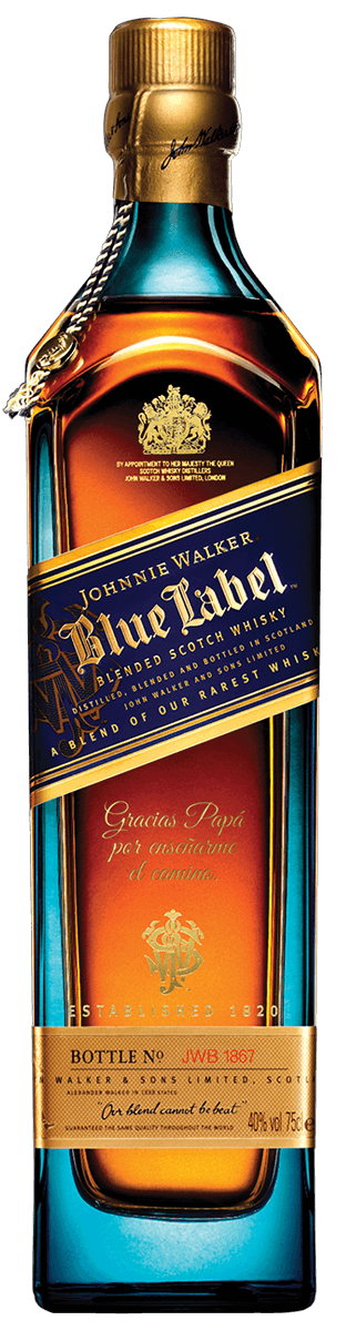 Botella de Johnnie Walker Blue Label