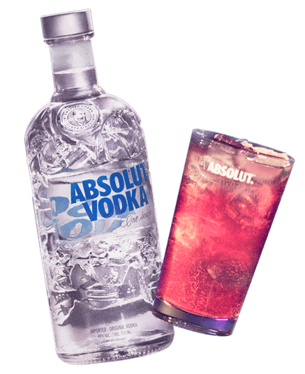 Botella Vodka Absolut Blue