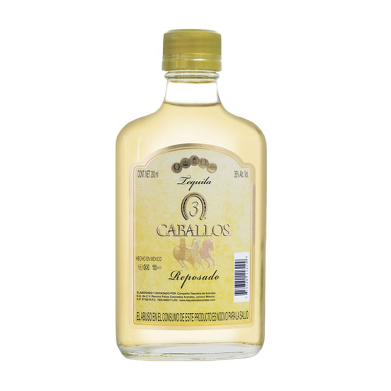 Tequila-Tres-Caballos-Rep-200ml-Bodegas-Alianza