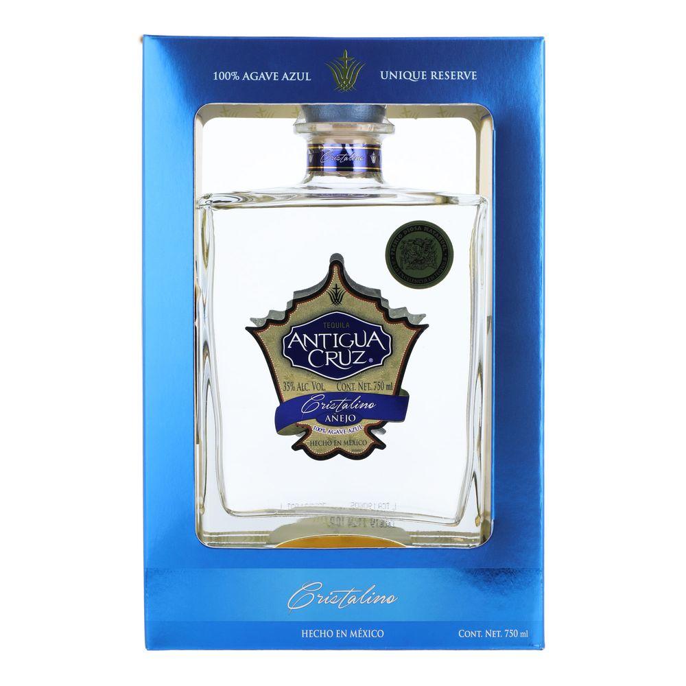 Tequila-Antigua-Cruz-Añejo-Cristalino-750ml-Bodegas-Alianza