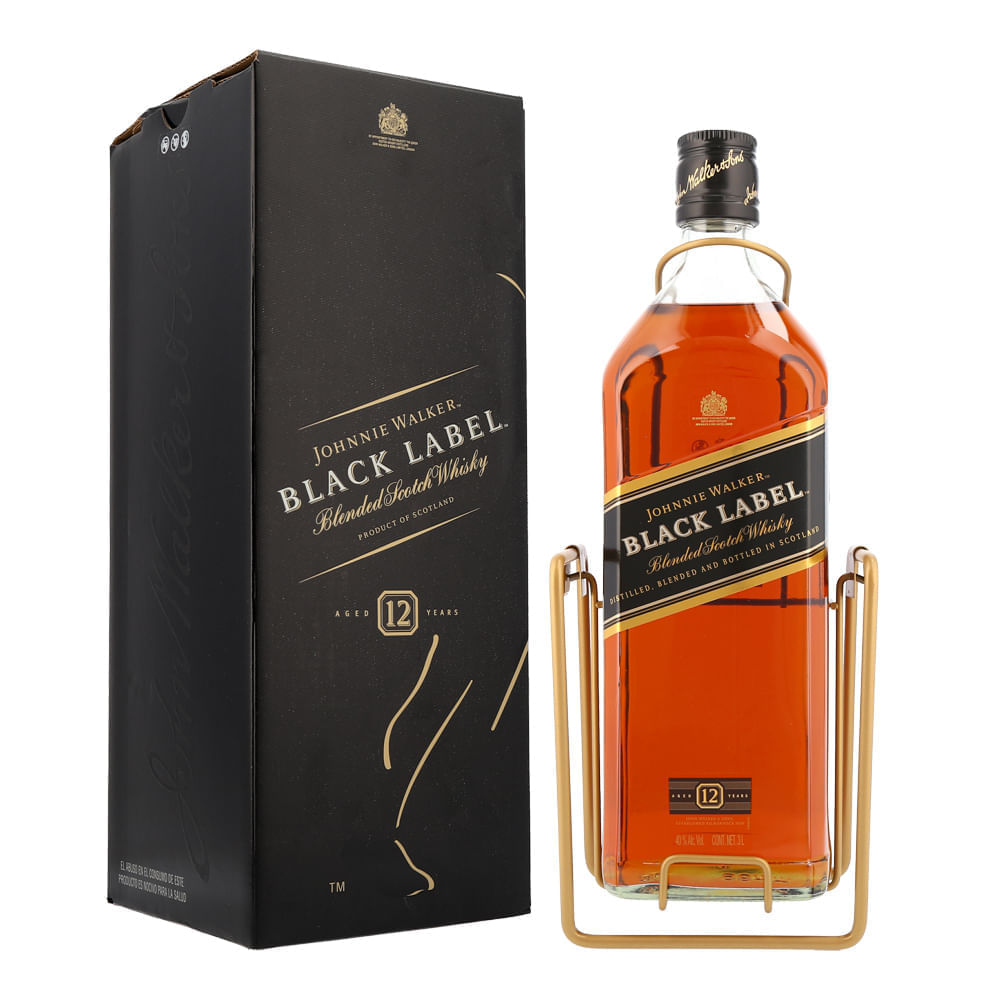 Whisky-Johnnie-Walker-Black-12-Años-3-L-con-Columpio-Bodegas-Alianza