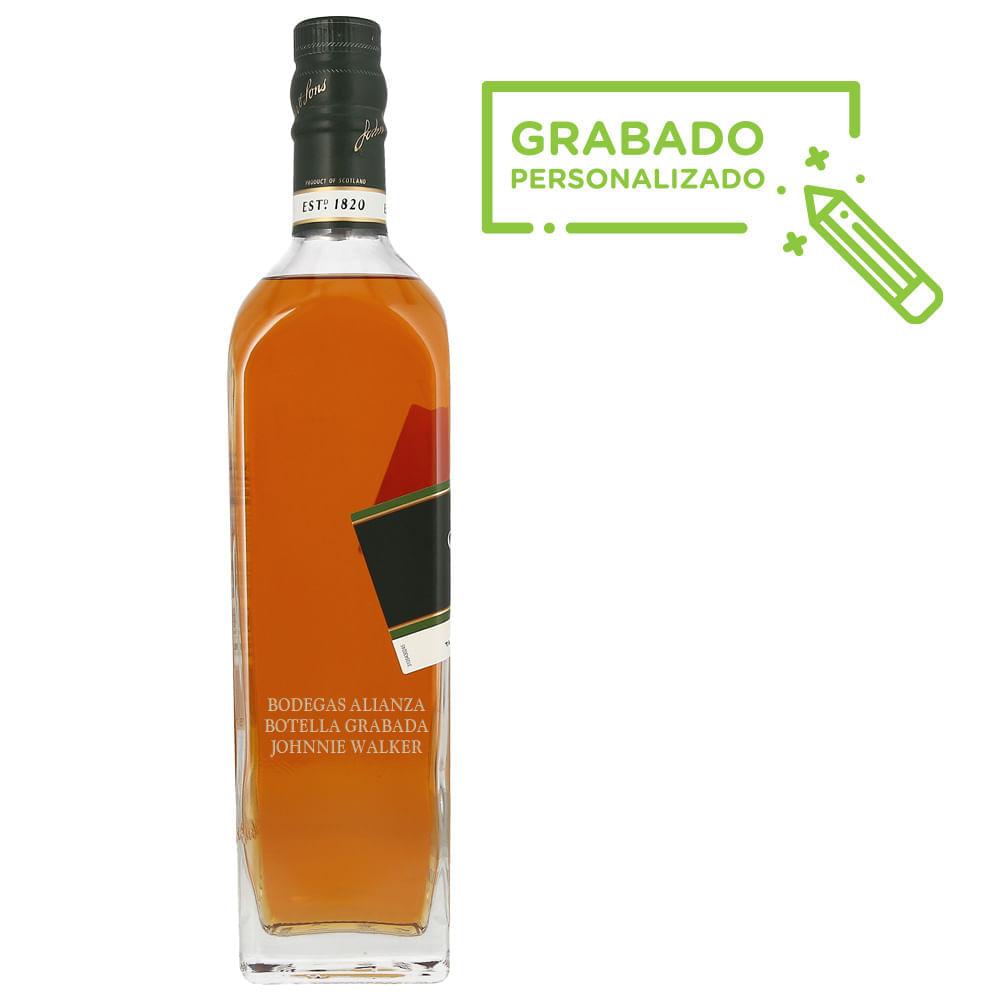 Whisky-Johnnie-Walker-Green-15-Años-700-ml-en-botella-grabada-Bodegas-Alianza