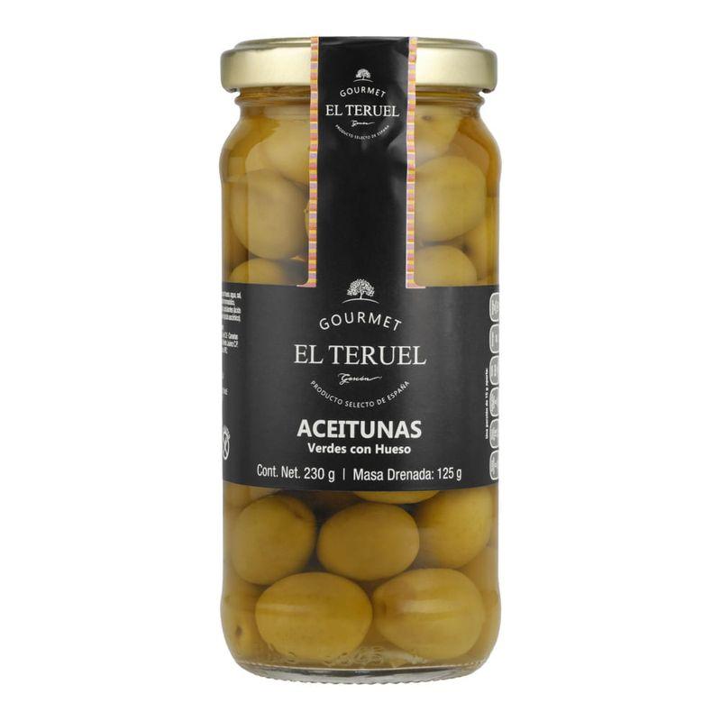 Aceituna-El-Teruel-Verdes-C-Hueso-230grs-Bodegas-Alianza