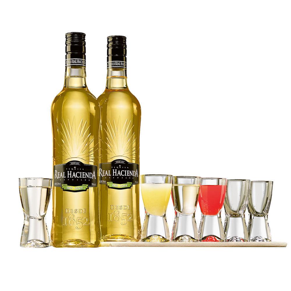 Tequila-Real-Hacienda-Rep-2Bt-con-6-Caballitos-700ml-Bodegas-Alianza