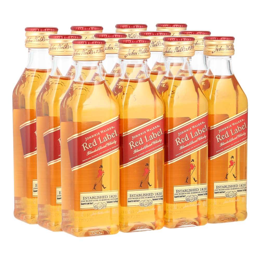 Whisky-Johnnie-Walker-Red-Label--12-Botellas--50-ml-Bodegas-Alianza