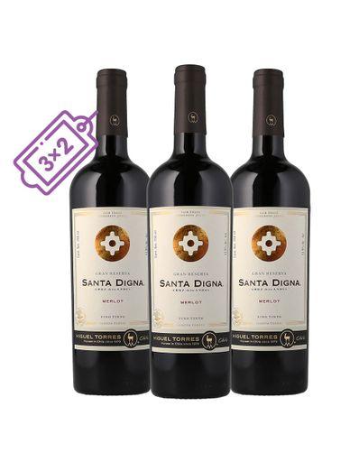 Vino-Tinto-Santa-Digna-Merlot-Gran-Rva--3X2--750ml-Bodegas-Alianza