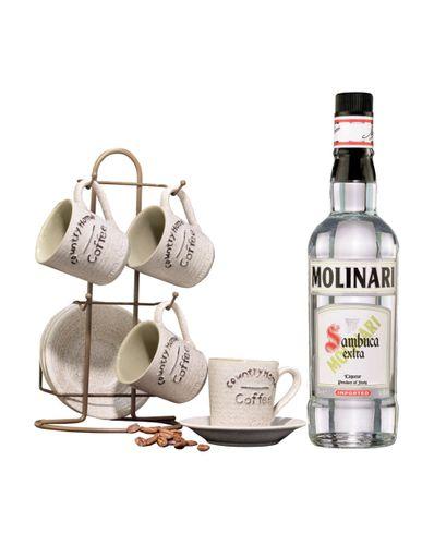 Licor-Molinari-Sambuca-Extra-Dulce-700-ml-con-juego-de-platos-y-tazas-para-4-personas-Bodegas-Alianza