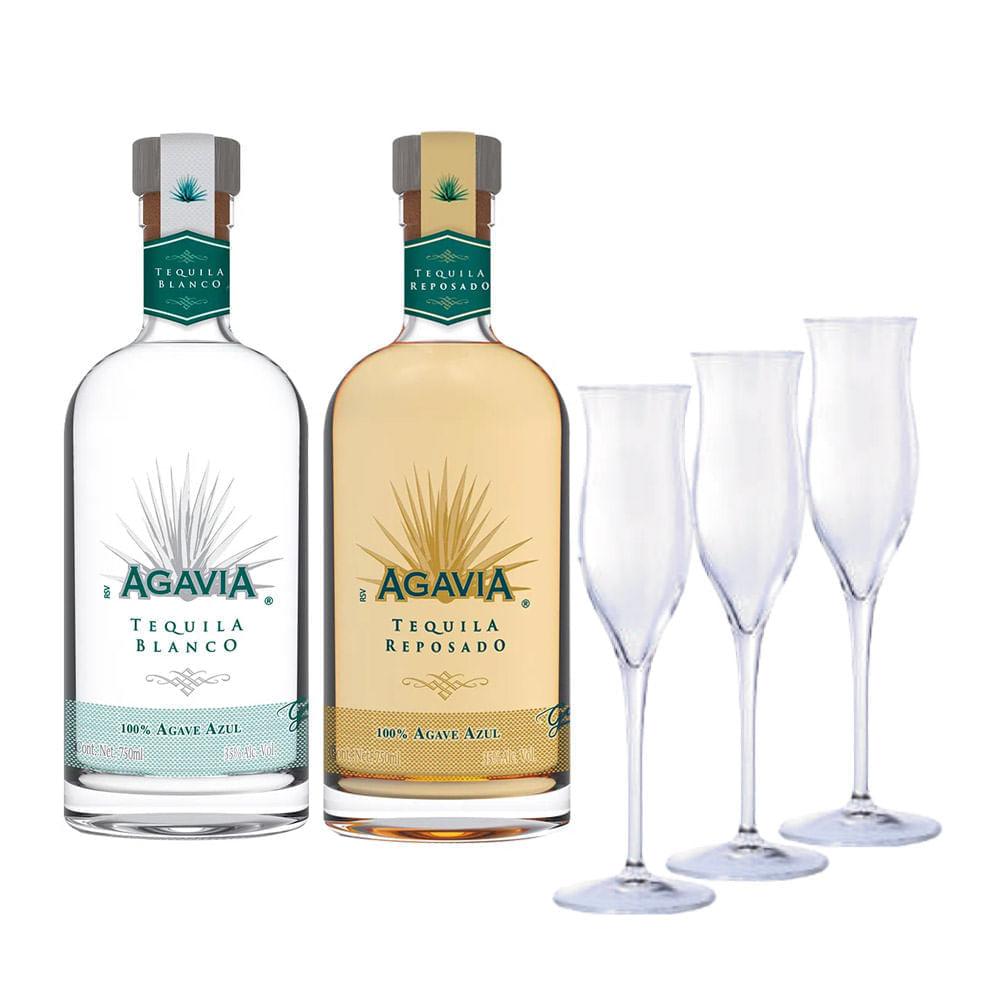 Tequila-Agavia-Rep-Blanco--750-ml--con-3-Copas-Bodegas-Alianza