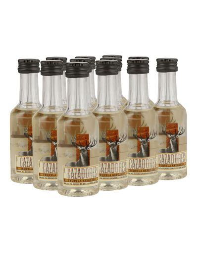 Tequila-Cazadores-Rep-Pet--12-Bot--50ml-Bodegas-Alianza