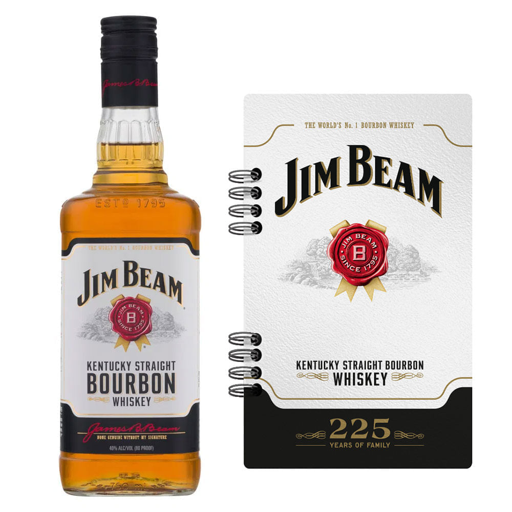 Whisky-Jim-Beam-White-750ml-con-Libreta-Bodegas-Alianza