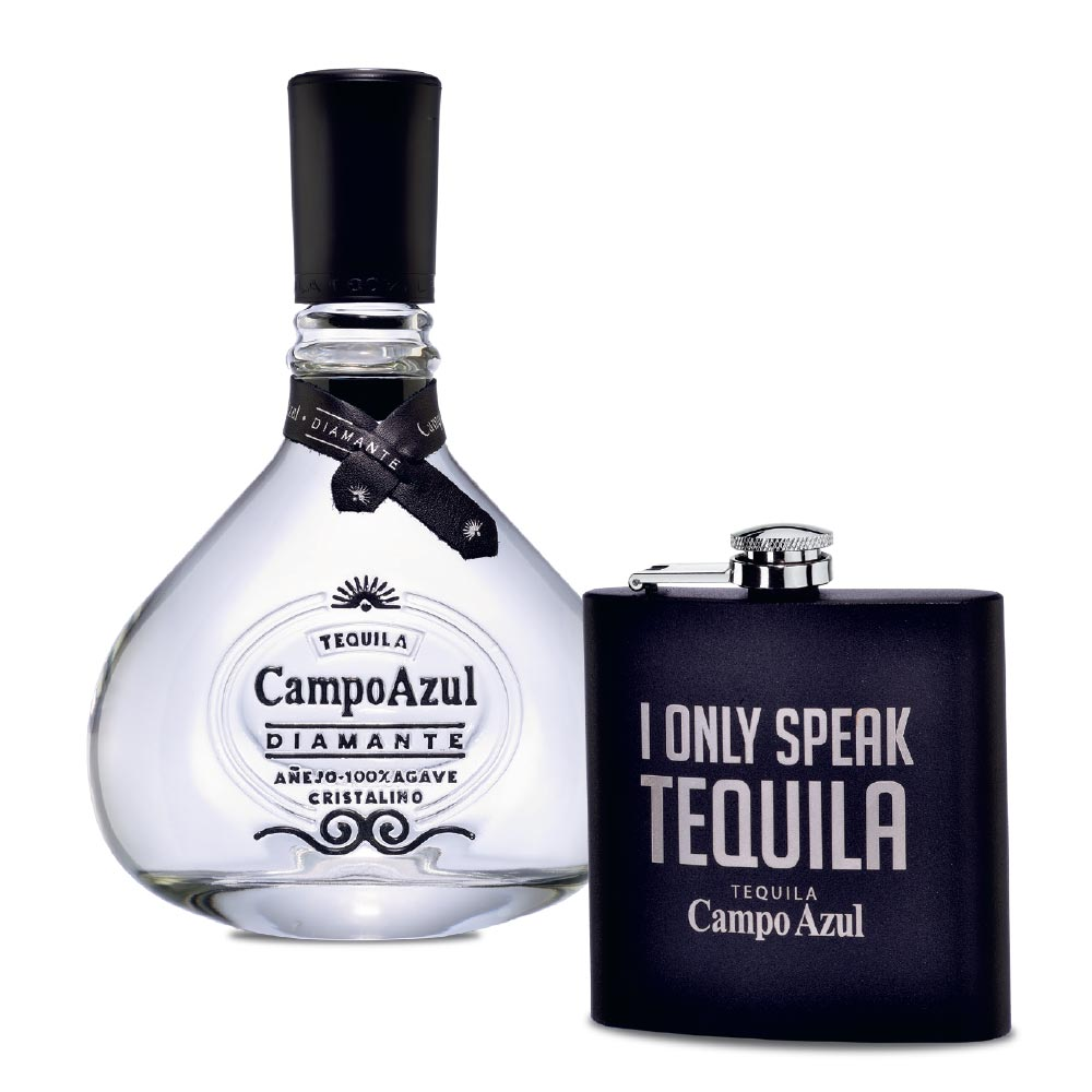Tequila-Campo-Azul-Añejo-Cristalino-750-ml-con-licorera-Bodegas-Alianza