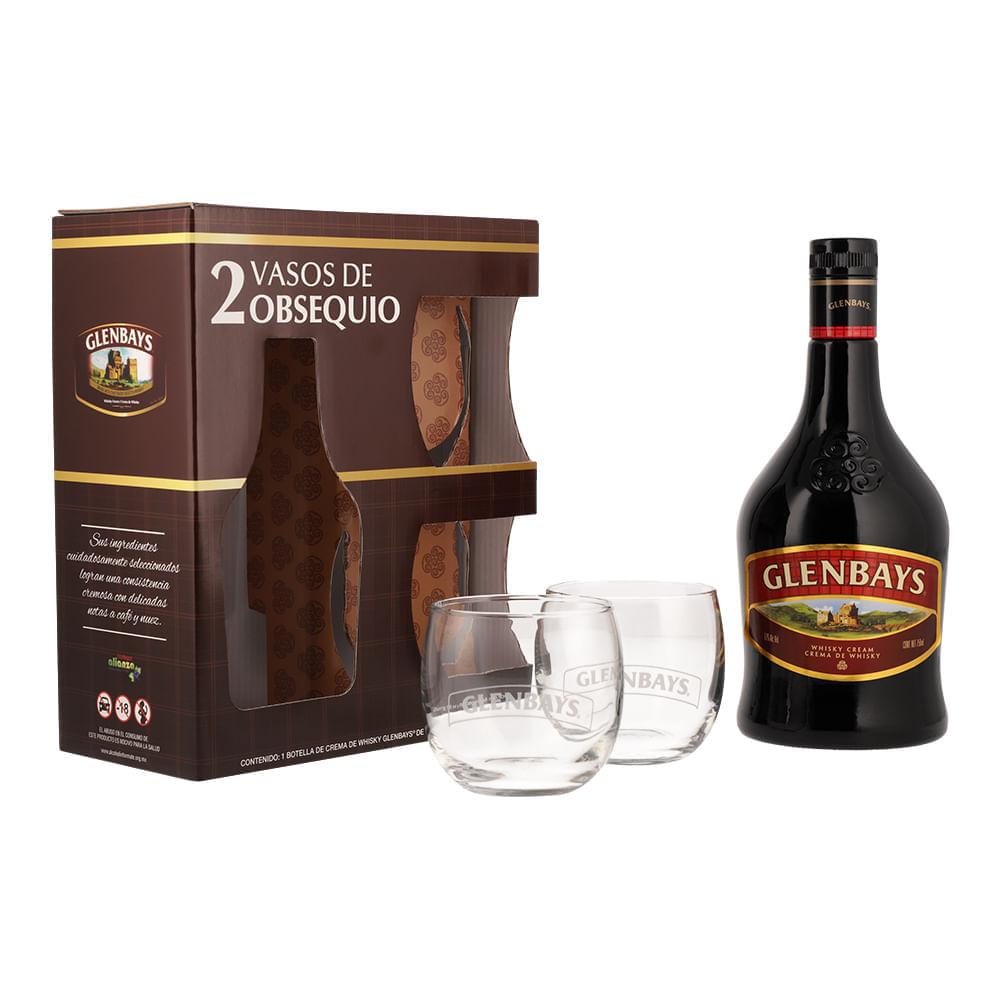 Crema-De-Whisky-Glenbays-750-ml-con-2-Vasos-Bodegas-Alianza