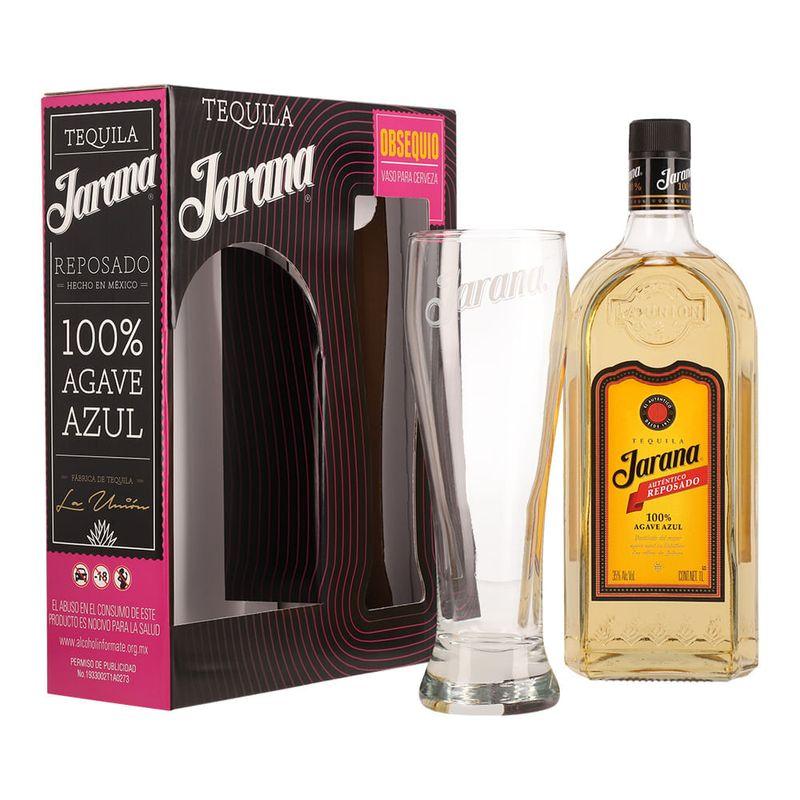 Tequila-Jarana-Autentico-Rep-1-L-con-Vaso-Cervecero-Bodegas-Alianza