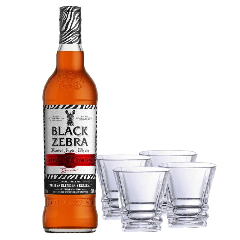 Whisky-Black-Zebra-Master-C-4-Vasos-700-ml-Bodegas-Alianza