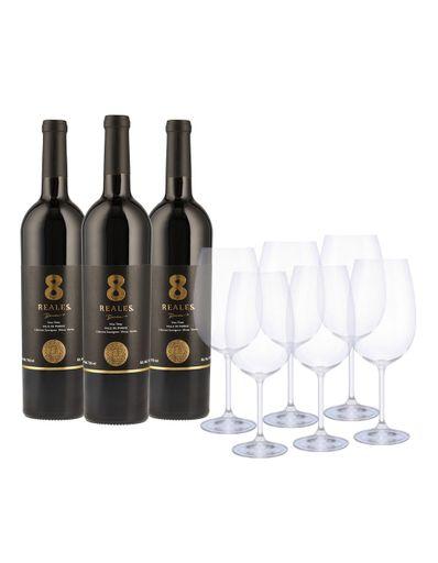 Vino-Tinto-8-Reales-Cabernet-Shiraz-Merlot-3Bt-C-6-Copas-750-ml-Bodegas-Alianza
