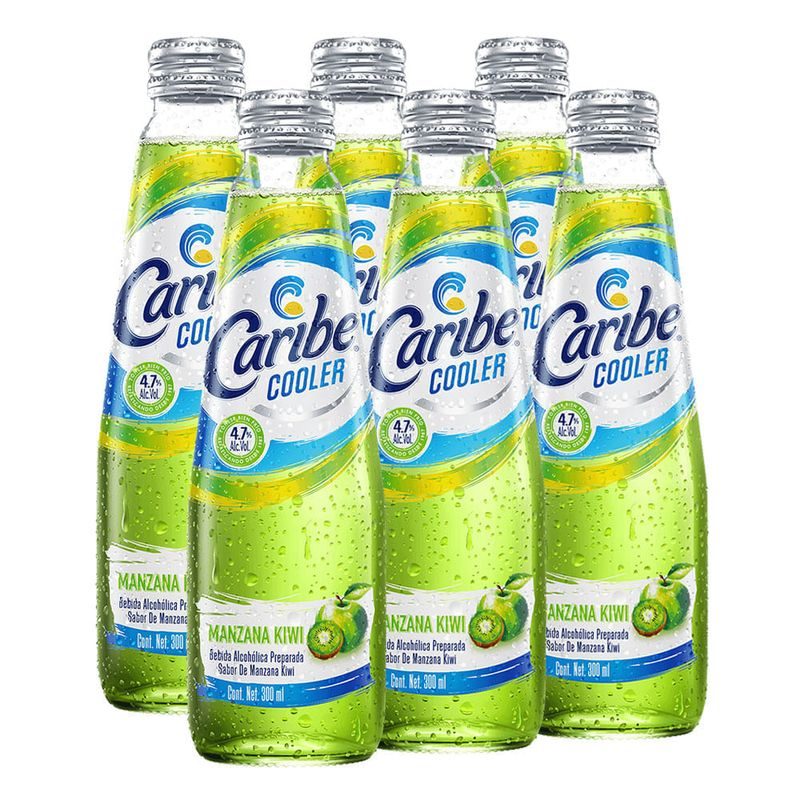 Caribe-Cooler-Manzana-Verde-Kiwi--6-Pzas--300-ml-Bodegas-Alianza