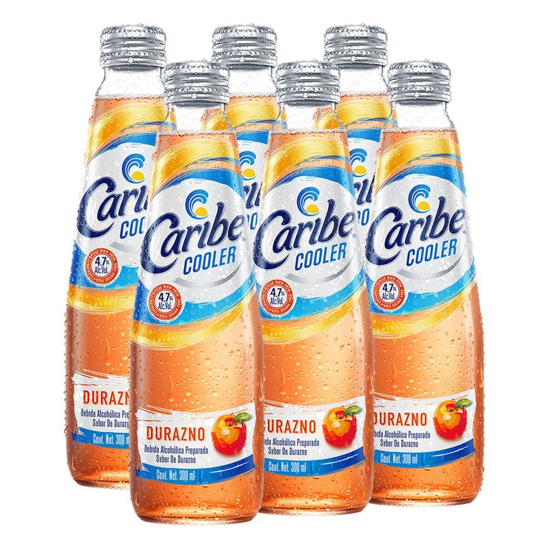 Caribe-Cooler-Durazno--6Pzas--300-ml-Bodegas-Alianza