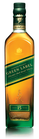 Botella de Johnnie Walker Green Label