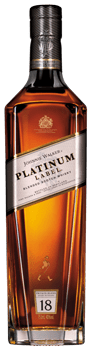 Botella de Johnnie Walker Platinum Label